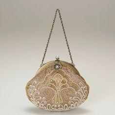 ビクトリアン刺繍パーティバッグ(ベージュ)