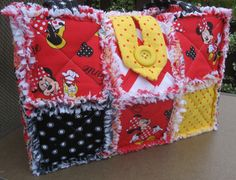 Minnie Mouse Disney Bag Purse Rag Quilt by SoaringHeartsQuilts, $45.00