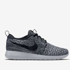 Nike Roshe Flyknit Women's, size 6 Nike Roshe Flyknit Women's—Cool Grey/Wolf Grey/White/Black, in size 6. Only worn once, in like-new condition!NO TRADES Nike Shoes Athletic Shoes