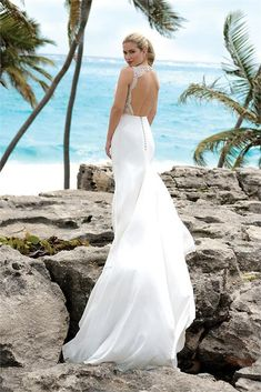 Summer Nights - Summer Nights is a truly glamorous and dramatic wedding dress. This stunning gown epitomises the slinky sophisticated style of the silver screen and will appeal to brides wanting to make a real impact on their special day. Wedding Night, Chic Wedding, Stunning Wedding Dresses, Bridal Boutique, Bridal Style, Bridal Gowns, Ivory, Summer Nights, Sophisticated Style