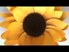 Sunflower: Assembling the Paper Fower - YouTube