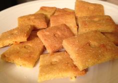 """Ok y'all. I didn't believe it until I tried it. Shut the front DOOR! """"Cheez-It"""" Crackers that taste super rich, sharp and cheesy! Best part? There's NO cheese in this recipe! HA! Ok well actually in my version, I do..."""
