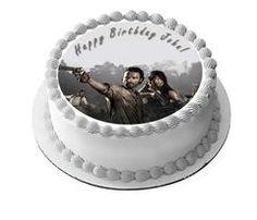 The Walking Dead 1 Edible Birthday Cake Topper OR Cupcake Topper, Decor - Edible…