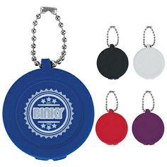 Promotional Round Key Chain Lip Moisturizer