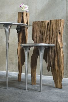 Recycle and reuse - Repurposed Furniture Ideas Modern Rustic Furniture, Metal Furniture, Unique Furniture, Repurposed Furniture, Diy Furniture, Furniture Design, Diy Upcycling, Branch Decor, Wood Interiors
