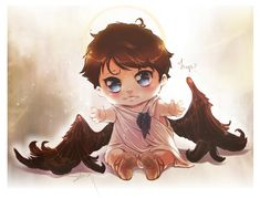 SPN: Baby Cas by Sekra.deviantart.com on @deviantART omg, give him to Dean and I'm done