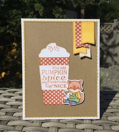 Mocha Frap Scrapper: Pumpkin Spice - PP313 Coffee Cards, Mft Stamps, Fall Cards, Card Tags, Pumpkin Spice, Mocha, Sunny Days, Spices, Crafty