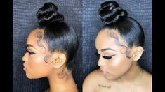 Hairstyles For Black - February 14 2019 at Cute Bun Hairstyles, Black Girls Hairstyles, Latest Hairstyles, Weave Hairstyles, Wedding Hairstyles, Classy Hairstyles, Hairstyles 2018, Protective Hairstyles, Protective Styles