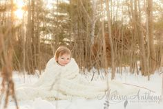 Snow baby session by Melissa Anthony Photography, winter of 2013