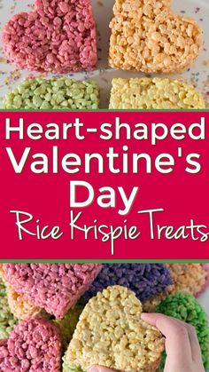 Homemade Valentines, Valentines Day Treats, Valentine Day Crafts, Valentine Decorations, Be My Valentine, Rice Krispy Treats Recipe, Rice Krispie Treats, Rice Krispies, Cute Kids Snacks