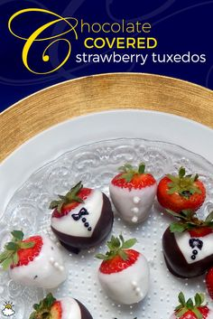 This recipe is a cute twist on the classic chocolate-covered strawberry. Perfect for weddings and bridal showers!