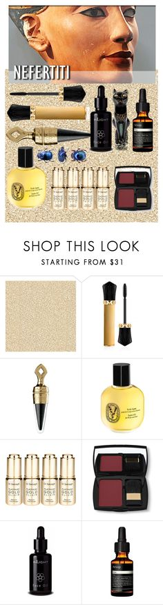 """Nefertiti"" by confusioninme ❤ liked on Polyvore featuring beauty, Burke Decor, Christian Louboutin, Guerlain, Diptyque, Dr. Sebagh, Lancôme, Inlight Skincare and Aesop"