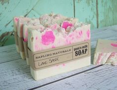 Love Spell Goat's Milk Soap with silk by saplingnaturals on Etsy, $4.75