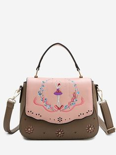 df9a44afea7ff How can you not impress the best snobs with this Laser Cut Out Embroidery  Print Handbag. Name Brand ...