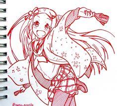 #hanayamata #anime #drawing  #red #notebook #cute