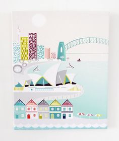Sydney Harbour  Textiles Canvas Print by lauraamiss