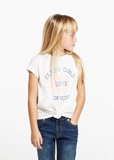Knot glitter t-shirt   MANGO KIDS