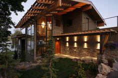 Liberty Lake Residence - modern - exterior - other metro - Uptic Studios.  steel framed windows!