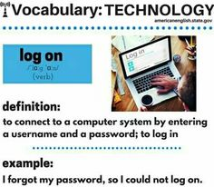 Technology Vocabulary, Grammar And Vocabulary, Vocabulary Cards, English Vocabulary Words, English Idioms, English Phrases, English Lessons, Learn English, English Teaching Resources