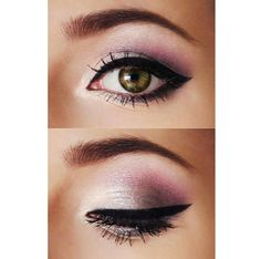 Pretty purple eye makeup for brown eyes.