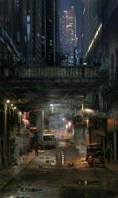 sci fi city / dystopian / digital srt