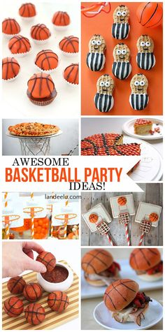 Awesome Basketball Party Ideas! Perfect for a Basketball Team Party, birthday party or March Madness! | Printables - DIY Tutorials and cute Basketball Recipes! http://landeelu.com