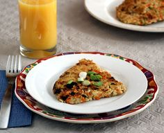 Flash in the Pan: Savory Pan-Fried Oatmeal Wedges with Shredded Carrot and Green Onion