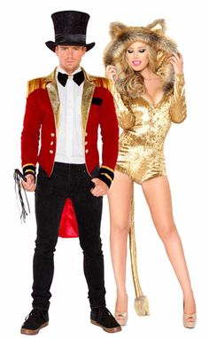 Lion Tamer Couples Costume Cecil the Lion Costume Velvet Circus Halloween Costumes, Circus Costume, Hallowen Costume, Theme Halloween, Halloween Ideas, Adult Halloween, Halloween Couples, Halloween 2016, Best Couples Costumes