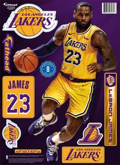 cd0b8b850a8 Fathead Los Angeles Lakers LeBron James Wall Decal