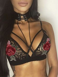 Cheap Sexy See Through Hollowed-out Flowers Front Bra Cross Straps Braces Women's Lace Underwear Lingerie For Big Sale!Sexy See Through Hollowed-out Flowers Front Bra Cross Straps Braces Women's Lace Underwear Lingerie Bustiers, Lingerie Outfits, Sexy Outfits, Lingerie Accessories, Sheer Lingerie, Women Lingerie, Sheer Bra, Lingerie Sleepwear, Lingerie Heels