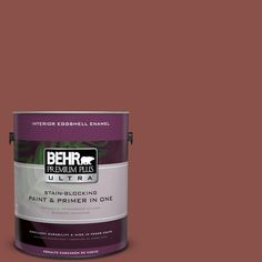 BEHR Premium Plus Ultra 1-gal. #S150-6 Spiced Berry Eggshell Enamel Interior Paint