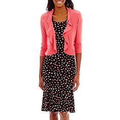 jcp | Danny & Nicole® 3/4-Sleeve Knit Jacket Dress