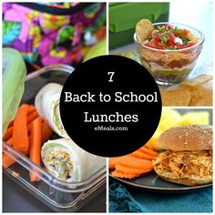 Variety of easy packable lunches for school. #schoollunch #Lunch