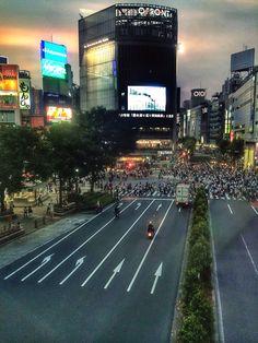 Shibuya Scramble. Photo © Copyright Yves Philippe