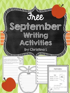 Celebrating September (Plus Some Free Writing Activities).  Free September Writing Activities and Ideas for the elementary classroom!