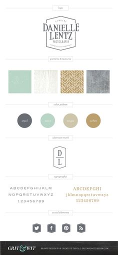 Danielle Lentz Photography #branding and style guide by Grit & Wit