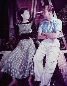Audrey and William Holden - audrey-hepburn photo-- In Sabrina