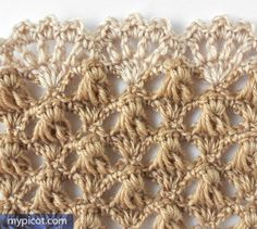 MyPicot   Free crochet patterns. ***Same pattern - One color w/ different color edging.***