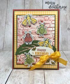Embossing Machine, Embossing Folder, The Wiggles, Hand Stamped Cards, And July, Stampin Up Catalog, Ink Pads, Kids Cards, Worms