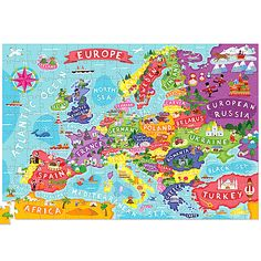 Love this European Map Poster & Puzzle by Crocodile Creek on Germany Poland, Russia Ukraine, European Map, Little Red Hen, North Sea, Sea And Ocean, Black Sea, Poster Wall, Cool Toys