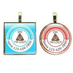 Oh Poop I'm Lost Emoji Dog ID Tag https://www.dogids.com/product/oh-poop-im-lost-emoji-dog-id-tag/