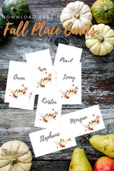 Free Fall Printable Place Cards & Thanksgiving Tablescape Ideas - The Birch Cottage