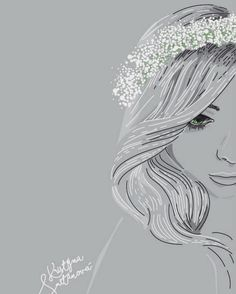 Bridal wreath 🕊 illustration by krissmet. Widding sketch  #weddingwreath #krissmet #art #illustration #drawing #draw #TagsForLikes #picture…""