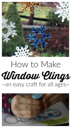 How to Make Window Clings: an easy craft for all ages | Frugal Family Times
