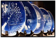 Our Danish Christmas plates