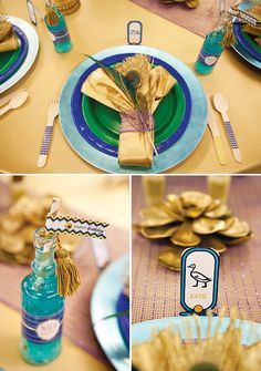 Egyptian Party Place Setting