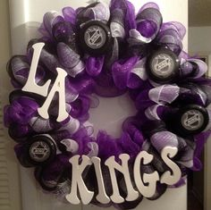 Sports Theme Wreath  NHL LA Kings by mahyahyvee on Etsy, $55.00
