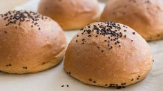 Try this whole wheat brioche bun recipe for a versatile bread that makes a delicious burger bun, sandwich bread, or just a dinner bun from PBS Food. Savory Bread Recipe, Bread Recipes, Baking Recipes, Pbs Food, Delicious Burgers, Bun Recipe, Pancakes And Waffles, Dessert Bread, The Fresh