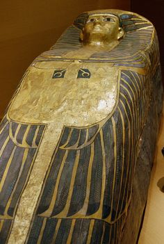 Coffin of an african queen, discovered by Flinders Petrie.