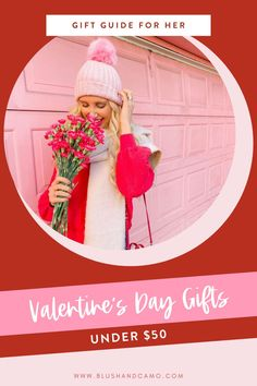Today I'm excited to share with you my Valentine's Day gift guide for that special lady in your life! And the best part is that everything is under $50! This gift guide is just what you need to show her how much you love her! #giftguide #valentinesgifts #valentines2020 #valentinesgiftideas